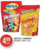 Skittles or Starburst Original Candy 320g