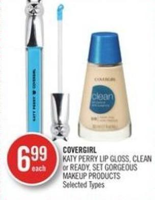 Covergirl Katy Perry Lip Gloss - Clean or Ready - Set Gorgeous Makeup Products