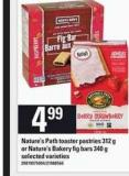 Nature's Path Toaster Pastries - 312 g or Nature's Bakery Fig Bars - 340 g