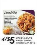 Compliments Frozen Entrées Selected 227-284 g