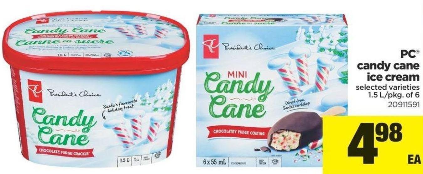 PC Candy Cane Ice Cream - 1.5 L/pkg Of 6