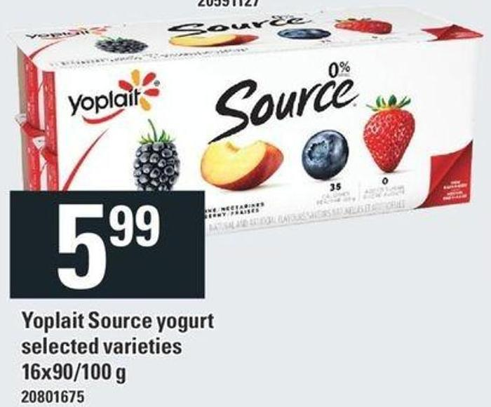 Yoplait Source Yogurt 16x90 / 100 g