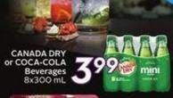 Canada Dry or Coca-cola Beverages 8x300 mL - 20 Air Miles