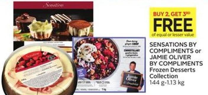 Sensations By Compliments or Jamie Oliver By Compliments Frozen Desserts Collection 144 G-1.13 Kg