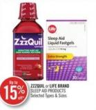 Zzzquil or Life Brand Sleep Aid Products