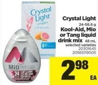 Crystal Light 24-56.6 G Kool-aid - Mio Or Tang Liquid Drink Mix 48 Ml