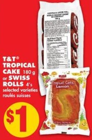 Tropical Cake - 180 g Or Swiss Rolls - 4's