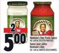 Newman's Own Pasta Sauce