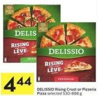 Delissio Rising Crust or Pizzeria Pizza Selected 530-888 g
