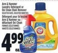 Arm & Hammer Laundry Detergent Or Oxi Clean Stain Remover