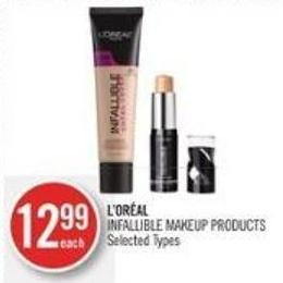 L'oréal Infallible Makeup Products