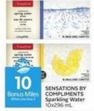 Sensations By Compliments Sparkling Water - 10 Air Miles Bonus Miles