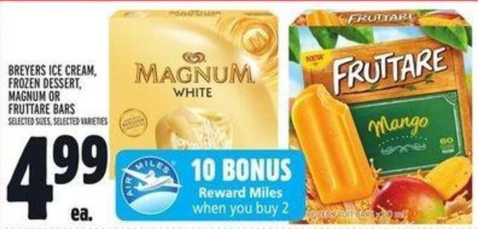 Breyers Ice Cream - Frozen Dessert - Magnum Or Fruttare Bars