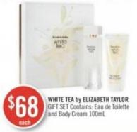 White Tea By Elizabeth Taylor Gift Set Contains: Eau de Toilette and Body Cream 100ml