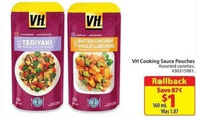 VH Cooking Sauce Pouches