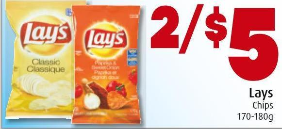 Lays Chips 170-180g