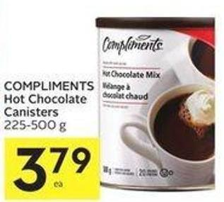 Compliments Hot Chocolate Canisters 225-500 g