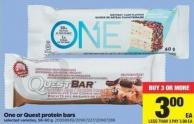 One Or Quest Protein Bars - 58-60 g