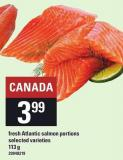 Fresh Atlantic Salmon Portions - 113 g