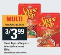 Kraft Stove Top Stuffing Mix - 120g