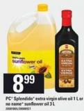 PC Splendido Extra Virgin Olive - Oil 1 L Or No Name Sunflower Oil - 3 L