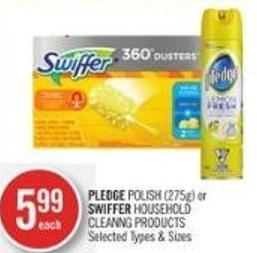 Pledge Polish (275g) or Swiffer Household Cleanng Products