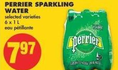Perrier Sparkling Water - 6 X 1 L