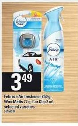 Febreze Air Freshener - 250 G - Wax Melts - 77 G - Car Clip - 2 Ml