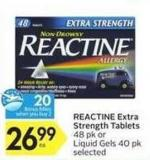 Reactine Extra Strength Tablets - 20 Air Miles