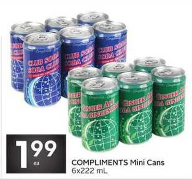 Compliments Mini Cans 6x222 mL