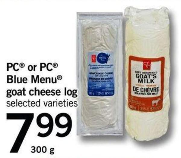 PC Or PC Blue Menu Goat Cheese Log - 300 G