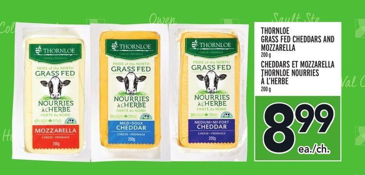 Thornloe Grass Fed Cheddars And Mozzarella