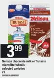 Neilson Chocolate Milk Or Trutaste Microfiltered Milk - 2 L