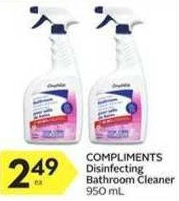 Compliments Disinfecting Bathroom Cleaner