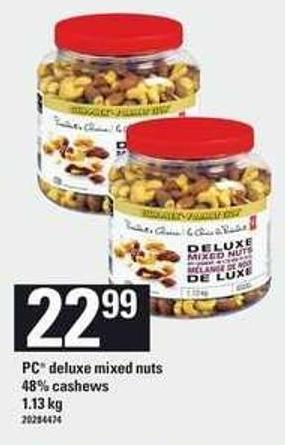 PC Deluxe Mixed Nuts 48% Cashews - 1.13 Kg