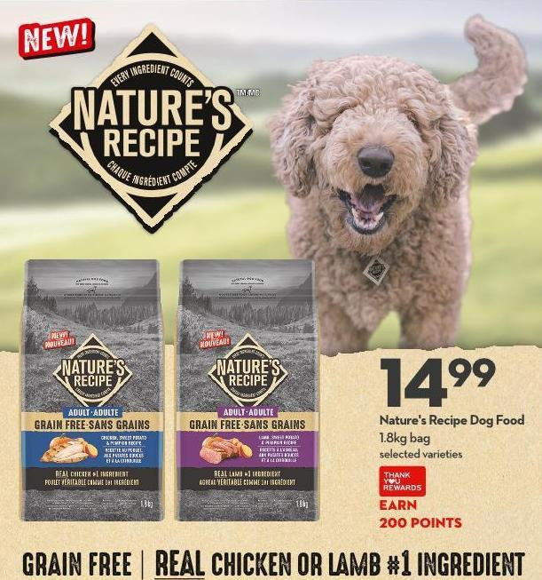 Nature's Recipe Dog Food 1.8kg Bag