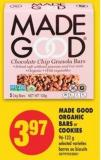 Made Good Organic Bars or Cookies - 96-132 g