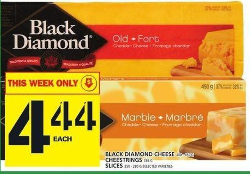 Black Diamond Cheese Or Cheestrings Or Slices