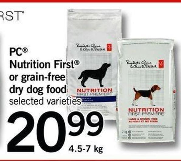 Nutrition First Or Grain-free Dry Dog Food - 4.5-7 Kg