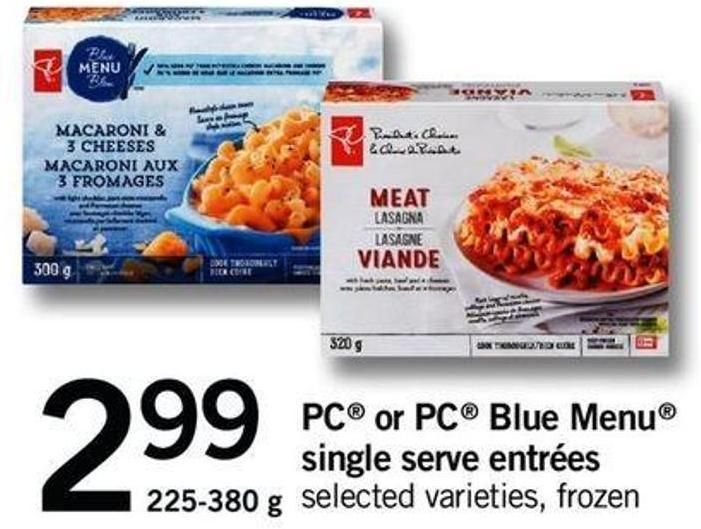 PC Or PC Blue Menu Single Serve Entrées - 225-380 G