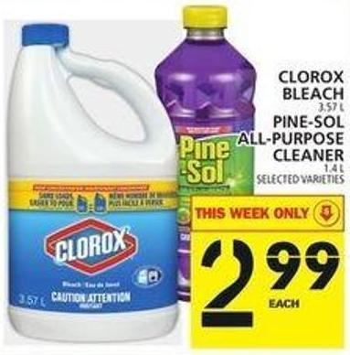 Clorox Bleach Or Pine-sol All-purpose Cleaner