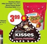 Hershey's Kisses Milk Chocolate 180-200 g Reese Peanut Butter Chocolate Bells 161 g