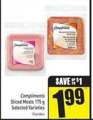 Compliments Sliced Meats 175 g Selected Varieties