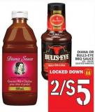 Diana Or Bulls-eye Bbq Sauce