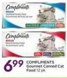 Compliments Gourmet Canned Cat Food
