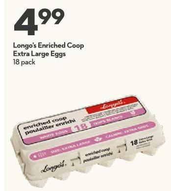 Longo's Enriched Coop Extra Large Eggs