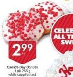 Canada Day Donuts 3 Pk 255 g