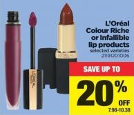 L'oréal Colour Riche Or Infallible Lip Products