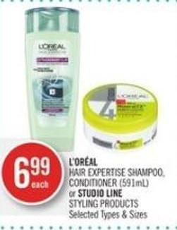 L'oréal  Hair Expertise Shampoo - Conditioner (591ml) or Studio Line Styling Products