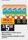 Minute Maid - Five Alive Juice Or Nestea Iced Tea - 8/10x200 Ml/1.89 L